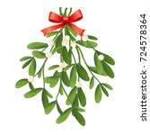 Branch Of Mistletoe With...