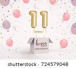 11 years anniversary  happy... | Shutterstock . vector #724579048
