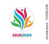 teamwork vector logo template... | Shutterstock .eps vector #724581238