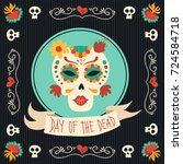 day of the dead traditional... | Shutterstock .eps vector #724584718