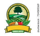 garden logo | Shutterstock .eps vector #724585369