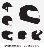 motorcycle helmets vector... | Shutterstock .eps vector #724589473