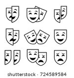 theater mask symbols vector set ... | Shutterstock .eps vector #724589584
