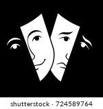 theater mask symbols vector set ... | Shutterstock .eps vector #724589764