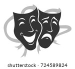 theater mask symbols vector set ... | Shutterstock .eps vector #724589824