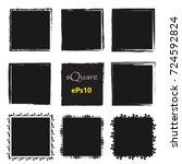 set of empty scribble square... | Shutterstock .eps vector #724592824