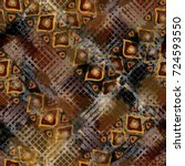seamless pattern ethnic design. ...   Shutterstock . vector #724593550
