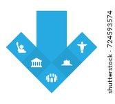 set of 5 monument icons set... | Shutterstock .eps vector #724593574