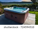 hot tub with a view of italian...   Shutterstock . vector #724594510