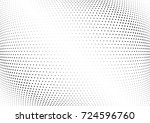 abstract halftone wave dotted... | Shutterstock .eps vector #724596760