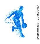 basketball player. splash paint