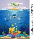 beautiful coral reefs  anemones ...   Shutterstock .eps vector #724601209