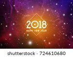astrological new year 2018... | Shutterstock .eps vector #724610680