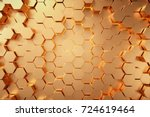 Golden Hexagonal Honeycomb...