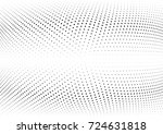 abstract halftone wave dotted... | Shutterstock .eps vector #724631818