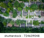 view over a neighborhood near... | Shutterstock . vector #724639048
