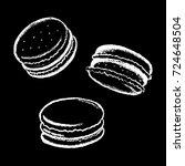 macarons white chalk vector... | Shutterstock .eps vector #724648504