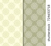 Olive Green Floral Backgrounds...