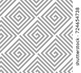 light gray geometric ornament.... | Shutterstock .eps vector #724654738