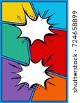 comic book page. background... | Shutterstock .eps vector #724658899