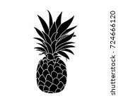 pineapple icon. | Shutterstock .eps vector #724666120