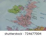 united kingdom closeup map. | Shutterstock . vector #724677004
