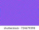 purple cyan halftone vector... | Shutterstock .eps vector #724679398