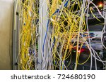 entangled internet wires are in ... | Shutterstock . vector #724680190