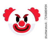 vector cartoon clown emoji... | Shutterstock .eps vector #724680454