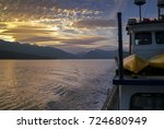 cruising the inside passage...   Shutterstock . vector #724680949