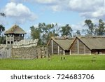 Stock photo biskupin ancient village of celts vikings and slavic nations changed by the time first describe by 724683706
