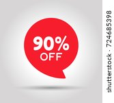 special offer sale red tag.... | Shutterstock .eps vector #724685398