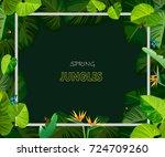 spring jungles backgrounds... | Shutterstock .eps vector #724709260