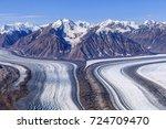 kaskawulsh glacier in kluane... | Shutterstock . vector #724709470