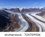 kaskawulsh glacier in kluane... | Shutterstock . vector #724709506