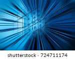 motion blur visual effect on... | Shutterstock . vector #724711174