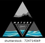 mountain and sea patterns are...