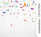 many falling colorful confetti. ... | Shutterstock .eps vector #724717924