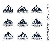 mountain shape logo design... | Shutterstock .eps vector #724726750
