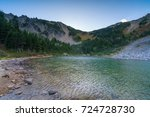 palisades lakes area  mount... | Shutterstock . vector #724728730