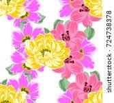abstract elegance seamless... | Shutterstock .eps vector #724738378