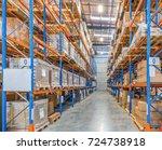 interior of warehouse | Shutterstock . vector #724738918
