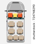 top view show seat map of...   Shutterstock .eps vector #724748290