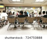 waiting for hospital medication ... | Shutterstock . vector #724753888