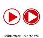 red play icons.arrow sign icon. ... | Shutterstock . vector #724754593
