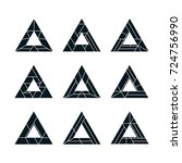 abstract geometric triangle... | Shutterstock .eps vector #724756990