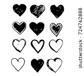 heart hand draw icon | Shutterstock .eps vector #724762888