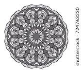decorative flower mandala.... | Shutterstock .eps vector #724763230