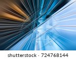 abstract motion blur visual... | Shutterstock . vector #724768144