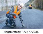 road worker construction | Shutterstock . vector #724777036